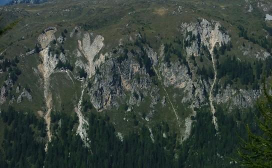 Debris flows (Dolomiti di Brenta, Trentino)